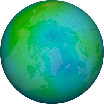 Arctic ozone map for 1997-10