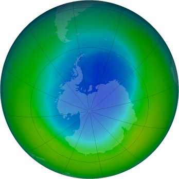 Antarctic ozone map for 1997-11