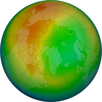 Arctic ozone map for 1998-01