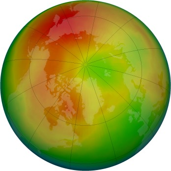 Arctic ozone map for 1998-03