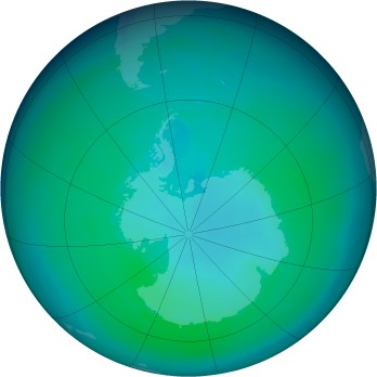 Antarctic ozone map for 1998-03