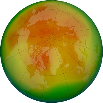 Arctic ozone map for 1998-04