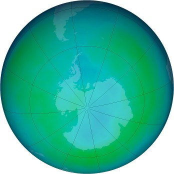 Antarctic ozone map for 1998-04