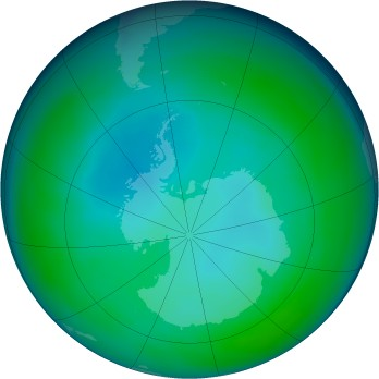Antarctic ozone map for 1998-05