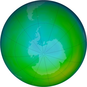 Antarctic ozone map for 1998-06