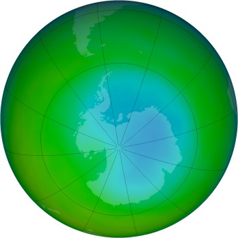 Antarctic ozone map for 1998-07