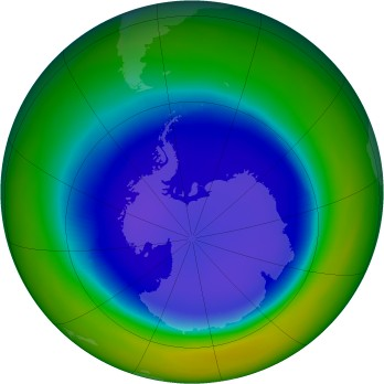 Antarctic ozone map for 1998-09