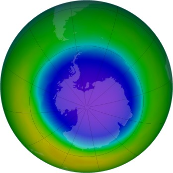 Antarctic ozone map for 1998-10