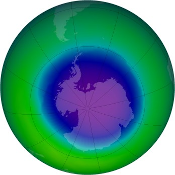 October 1998 monthly mean Antarctic ozone