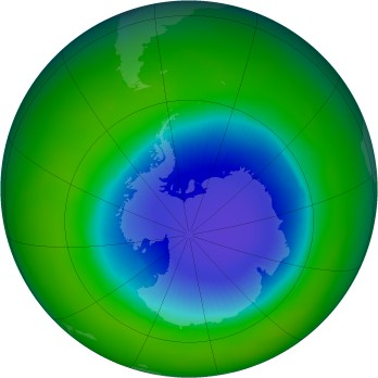 Antarctic ozone map for 1998-11