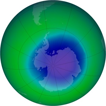 November 1998 monthly mean Antarctic ozone