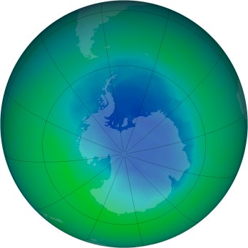 December 1998 monthly mean Antarctic ozone