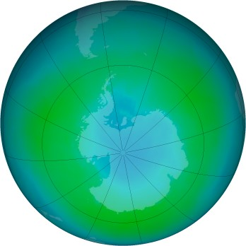 Antarctic ozone map for 1999-01