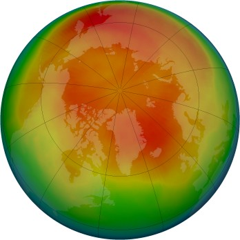 Arctic ozone map for 1999-03