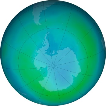 Antarctic ozone map for 1999-03