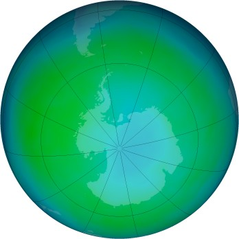 Antarctic ozone map for 1999-05