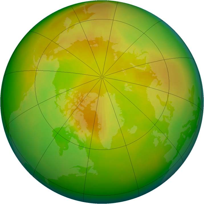 Arctic ozone map for May 1999