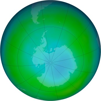 Antarctic ozone map for 1999-06