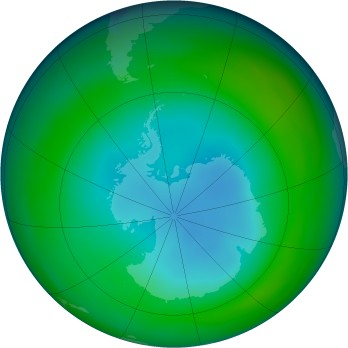 Antarctic ozone map for 1999-07
