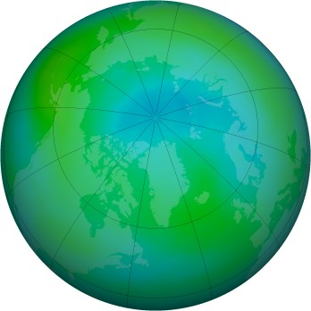 Arctic ozone map for 1999-09