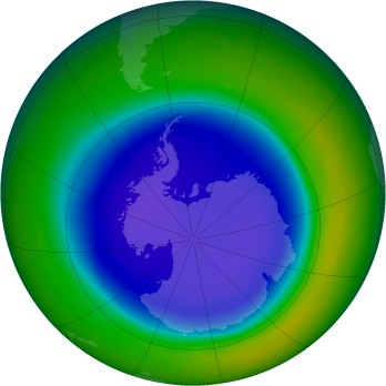 Antarctic ozone map for 1999-09