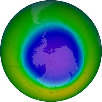 Antarctic ozone map for 1999-10