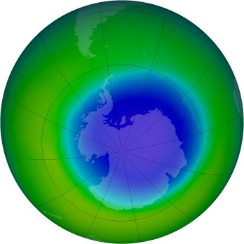Antarctic ozone map for 1999-11