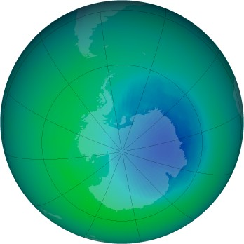 December 1999 monthly mean Antarctic ozone