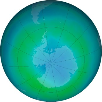 Antarctic ozone map for 2000-04
