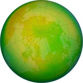 Arctic ozone map for 2000-05