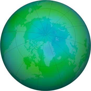 Arctic ozone map for 2000-09