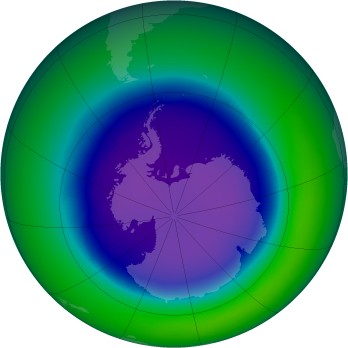 September 2000 monthly mean Antarctic ozone