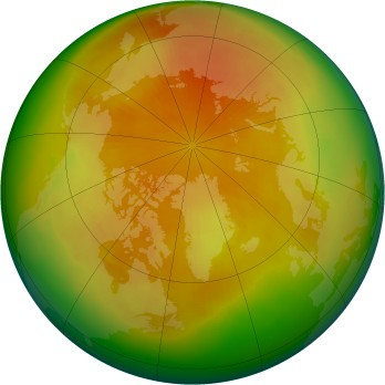 Arctic ozone map for 2001-04