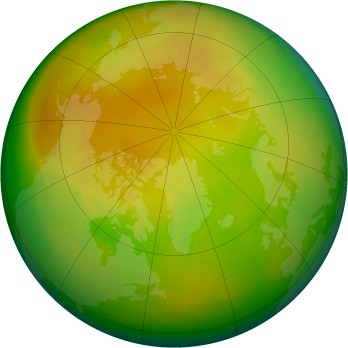 Arctic ozone map for 2001-05