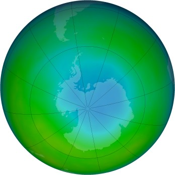 Antarctic ozone map for 2001-06