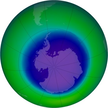 September 2001 monthly mean Antarctic ozone