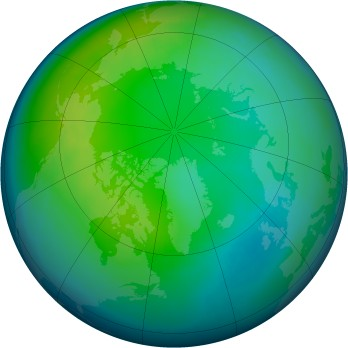 Arctic ozone map for 2001-11