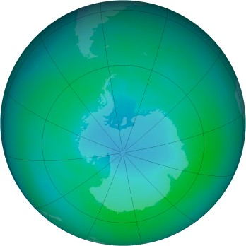 Antarctic ozone map for 2002-02