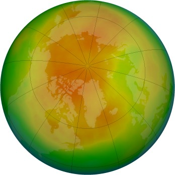 Arctic ozone map for 2002-04