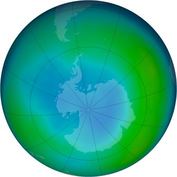 Antarctic ozone map for 2002-05