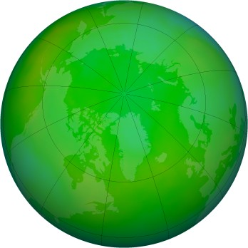 Arctic ozone map for 2002-07