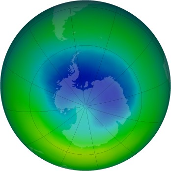 September 2002 monthly mean Antarctic ozone