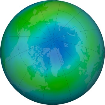 Arctic ozone map for 2002-10