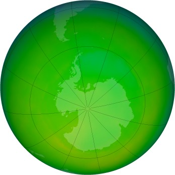 Antarctic ozone map for 2002-11