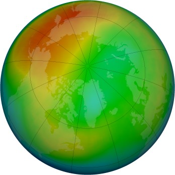 Arctic ozone map for 2003-01