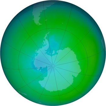 Antarctic ozone map for 2003-01