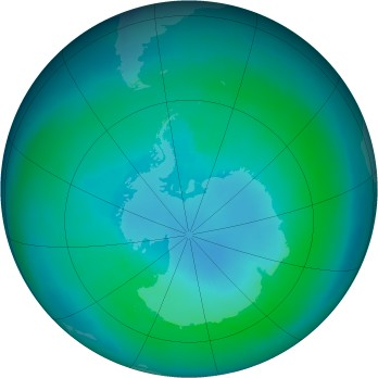 Antarctic ozone map for 2003-03