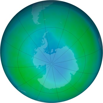 Antarctic ozone map for 2003-04
