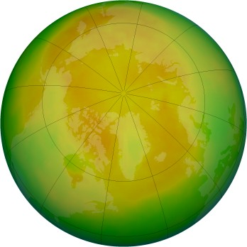 Arctic ozone map for 2003-05