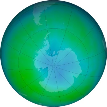 Antarctic ozone map for 2003-05